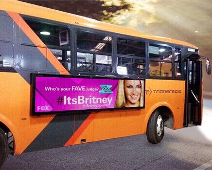 公交车广告屏