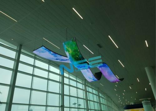 艾兰达户内P4创意显示屏走进韩国仁川国际新机场