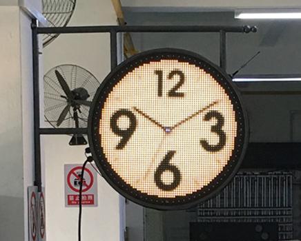 户外圆型logo屏